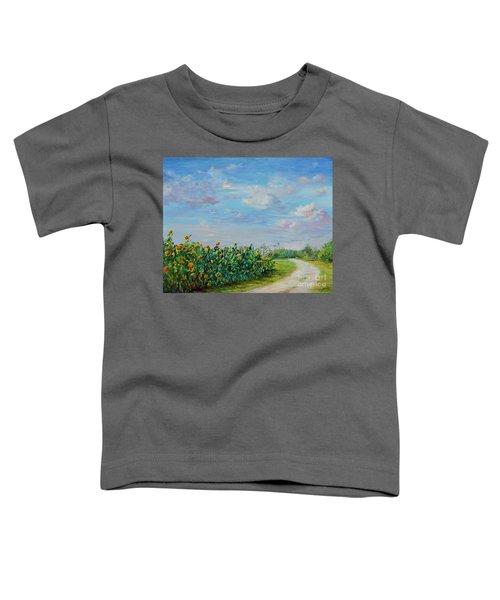 Sunflower Field Ptg Toddler T-Shirt