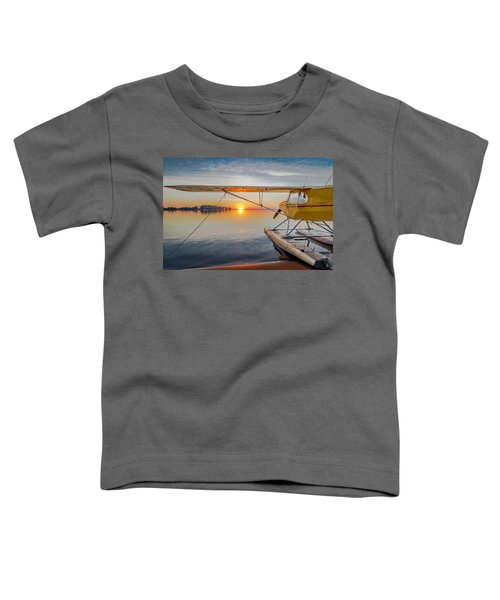 Sunrise Seaplane Toddler T-Shirt