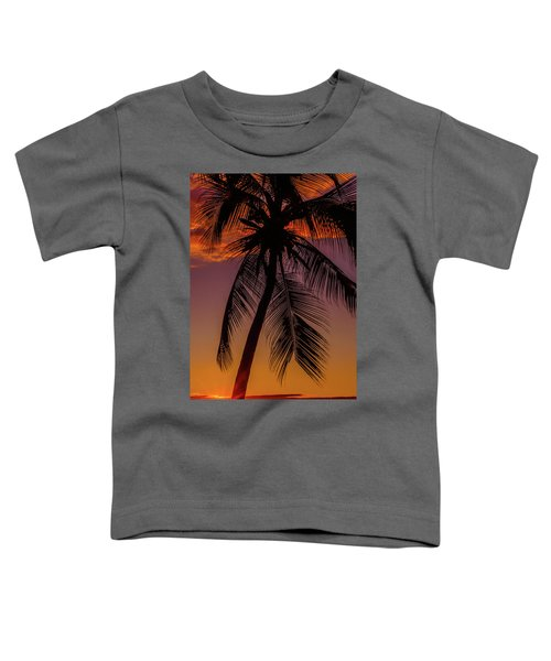 Sunset At The Palm Toddler T-Shirt