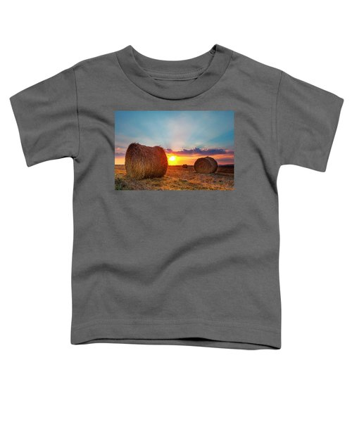 Sunset Bales Toddler T-Shirt