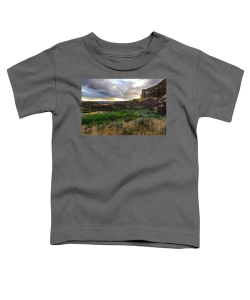 Sunset In The Ancient Lakes Toddler T-Shirt