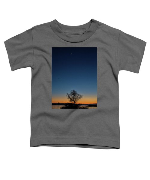 Sunset In The Refuge With Moon Toddler T-Shirt