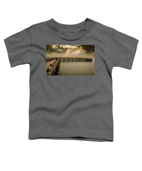 Sunset On Pier Toddler T-Shirt