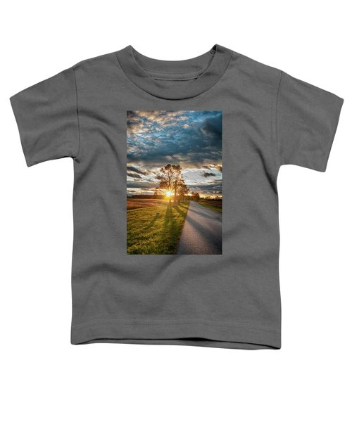 Sunset On The Field Toddler T-Shirt