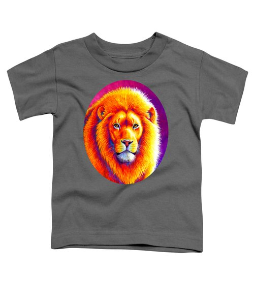 Sunset On The Savanna - African Lion Toddler T-Shirt