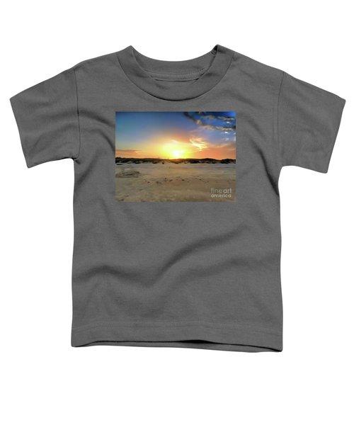 Sunset Over N Padre Island Beach Toddler T-Shirt