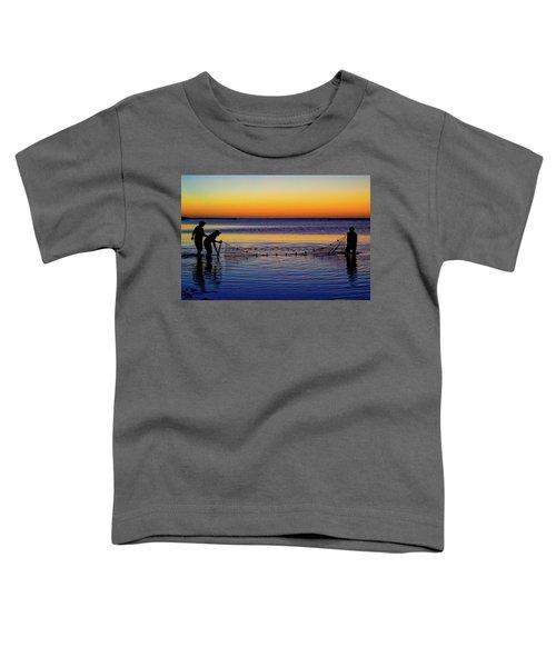 Sunset Seining On Copano Bay Toddler T-Shirt