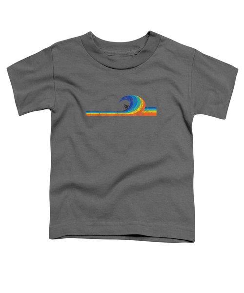Surfer Vintage Style Wave T Shirt Toddler T-Shirt
