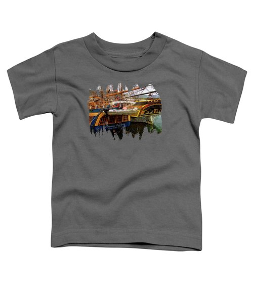 Tall Ships In Port Toddler T-Shirt