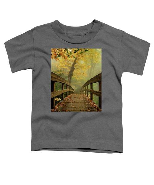 Tanawha Trail Blue Ridge Parkway - Foggy Autumn Toddler T-Shirt