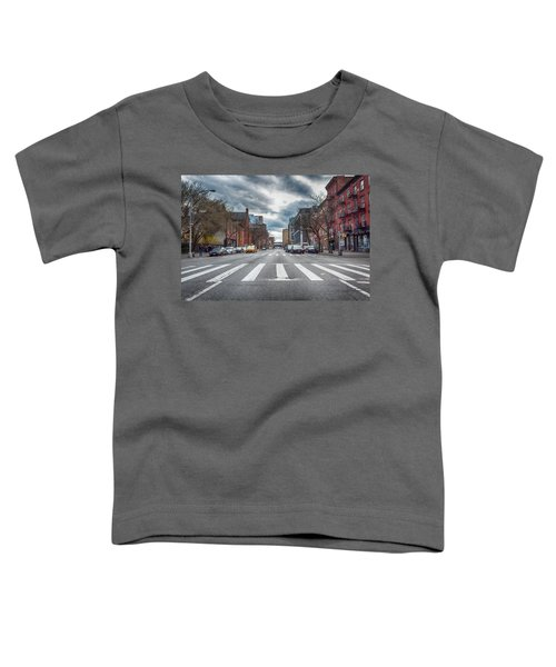 Toddler T-Shirt featuring the photograph Tenth Avenue Freeze Out by Alison Frank