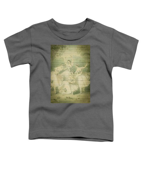 The Ballet Dancers Shabby Chic Vintage Style Portrait Toddler T-Shirt