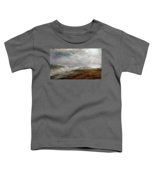 The Elbe On A Foggy Morning - Digital Remastered Edition Toddler T-Shirt