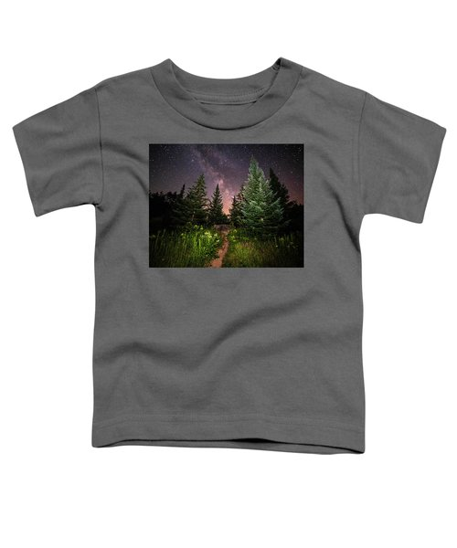 The Path To The Milky Way In Albany New Hampshire Toddler T-Shirt