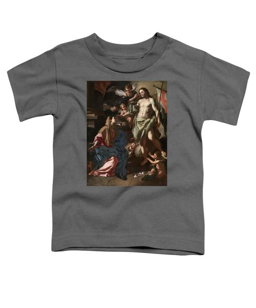 The Risen Christ Appearing To The Virgin, 1708 Toddler T-Shirt