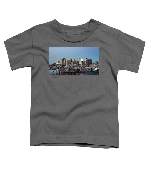 The Skyline Of Boston In Massachusetts, Usa On A Clear Winter Ev Toddler T-Shirt
