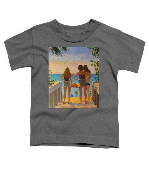 Three Beach Girls Toddler T-Shirt