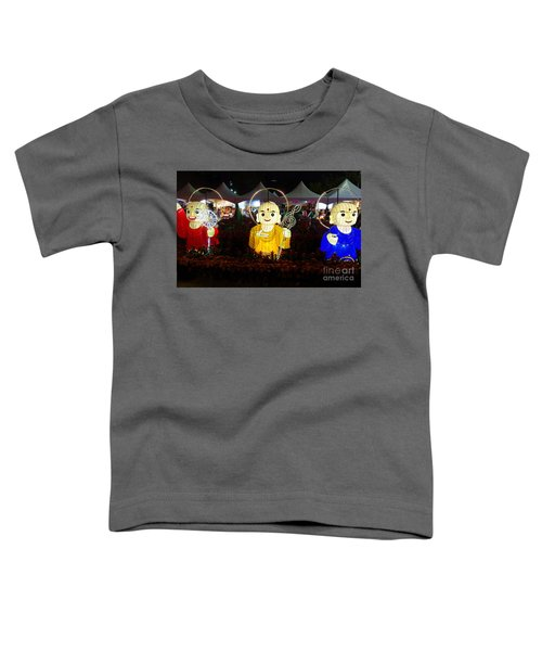 Three Lanterns In The Shape Of Buddhist Monks Toddler T-Shirt