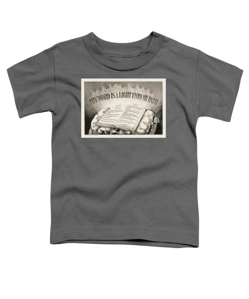 Thy Word Is A Light Unto My Path, 1872 Toddler T-Shirt