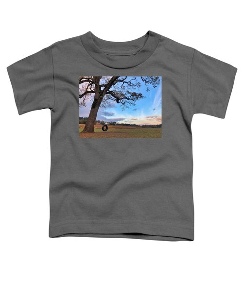 Tire Swing Tree Toddler T-Shirt