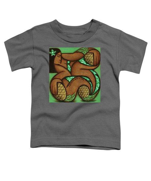 Tommervik Tommrvik Hawaiian Woman Pineapple Art Print Toddler T-Shirt