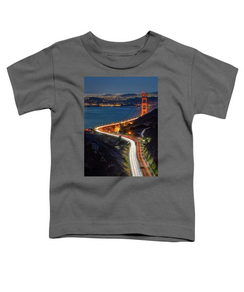 Traffic Racing Over The Golden Gate Bridge Toddler T-Shirt