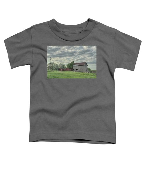 Train Cars And A Barn Toddler T-Shirt