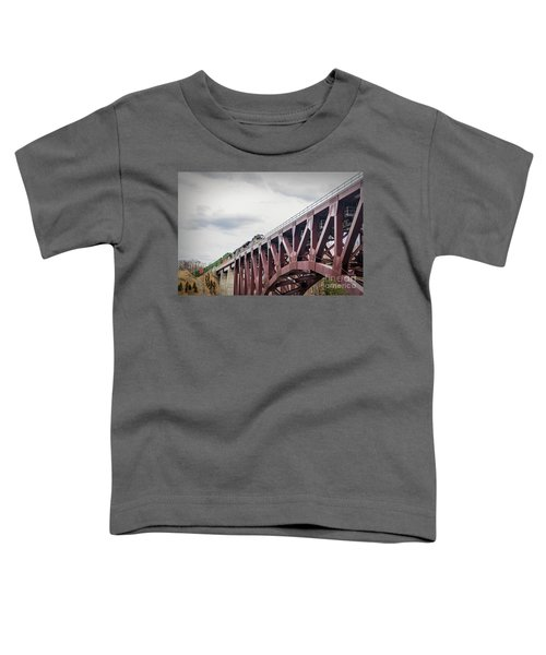 Train Over Letchworth Toddler T-Shirt