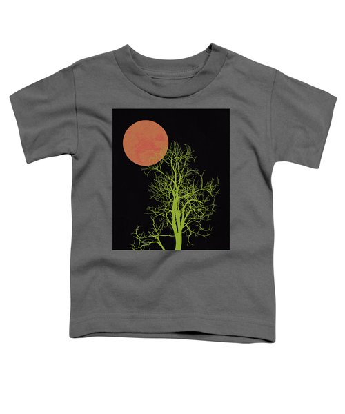Tree And Orange Moon Toddler T-Shirt