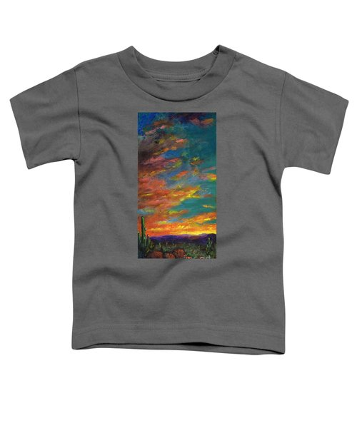 Triptych 1 Desert Sunset Toddler T-Shirt