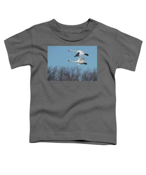 Toddler T-Shirt featuring the photograph Tundra Swan Duo by Donald Brown