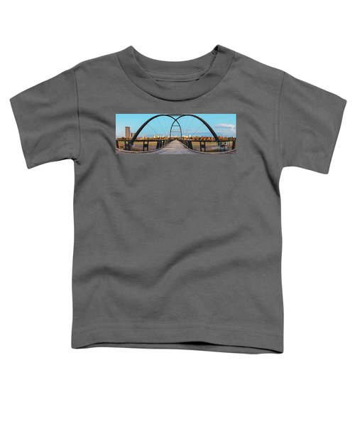 Twilight Panorama Of Bill Coats Bridge Over Brays Bayou - City Of Houston Texas Medical Center Toddler T-Shirt