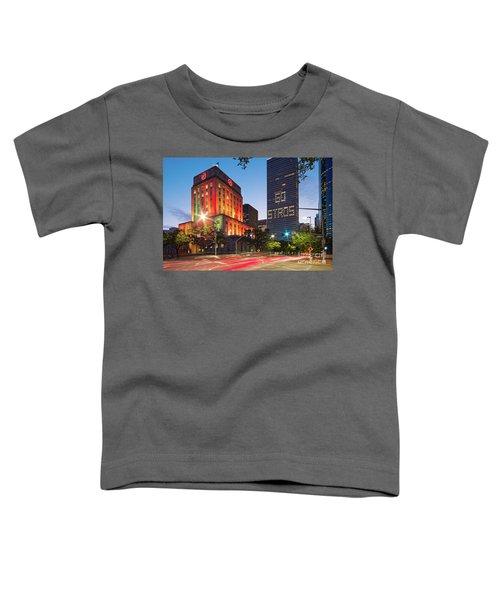 Twilight Photograph Of Houston City Hall Astros Baseball World Series 2017 - Downtown Houston Toddler T-Shirt