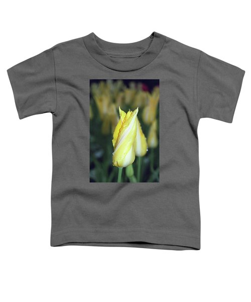 Twisted Yellow Tulip Toddler T-Shirt
