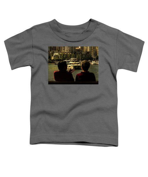 Two Friends At The Vancouver Bay Toddler T-Shirt