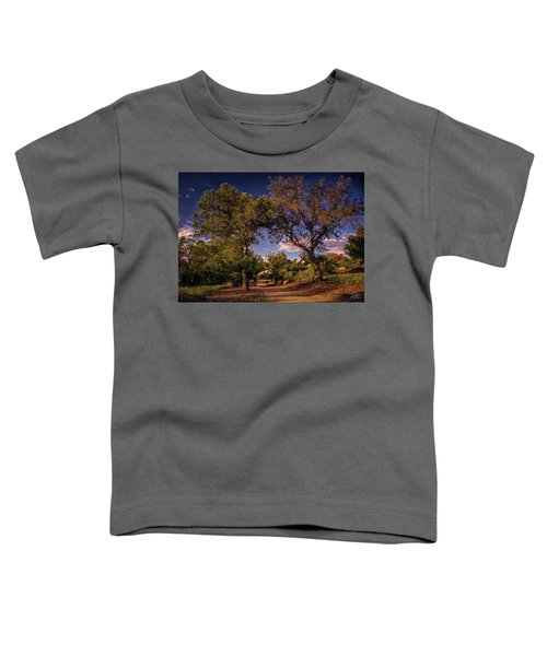 Two Old Oak Trees At Sunset Toddler T-Shirt