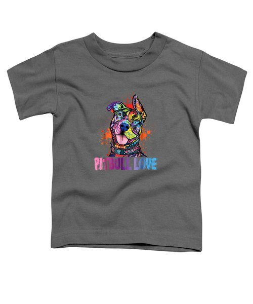 Unisex Colorful Pitbull Dog Tee Funny Pit Bulls Shirt Toddler T-Shirt