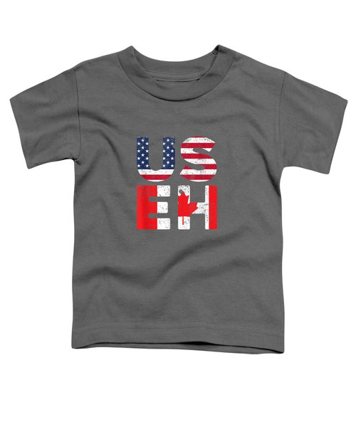 Usa Pride Us Flag Canada Day Useh Canadian T-shirt Toddler T-Shirt