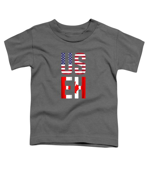 Useh America Canada Flag T-shirt Funny American Canadian Tee Toddler T-Shirt