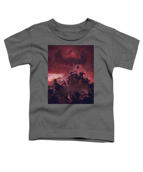 Vader Vs Aliens 4 Toddler T-Shirt