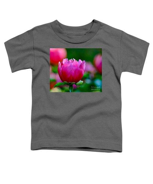 Vibrant Pink Peony Toddler T-Shirt