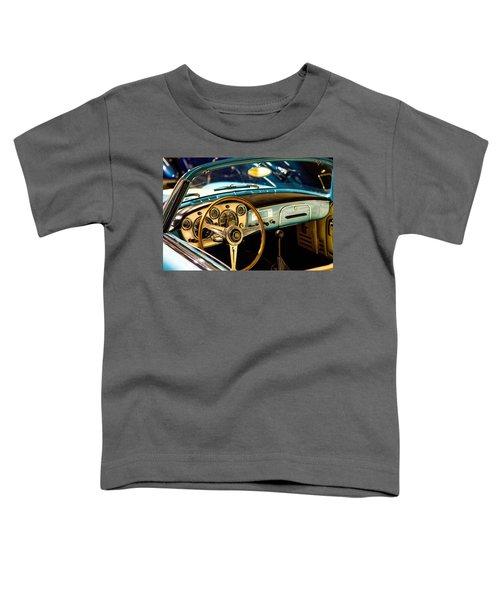 Vintage Blue Car Toddler T-Shirt