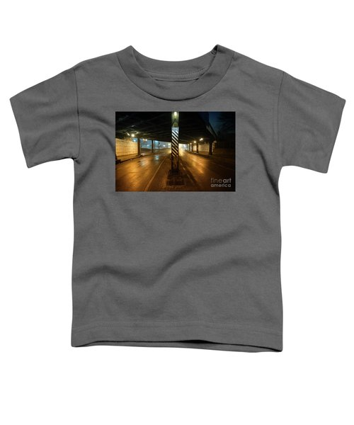 Vintage Chicago Bridge At Night Toddler T-Shirt
