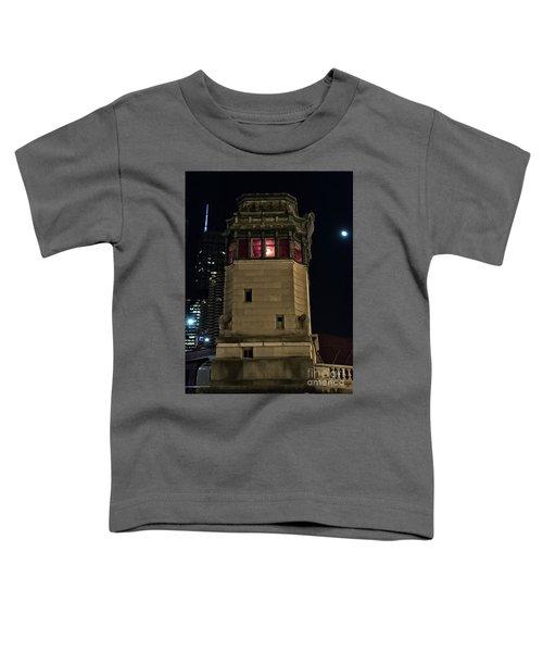 Vintage Chicago Bridge Tower At Night Toddler T-Shirt