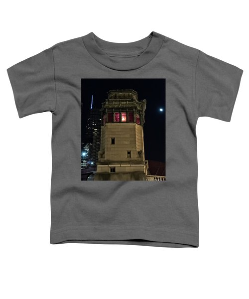 Vintage Chicago Bridge Tower At Night Toddler T-Shirt