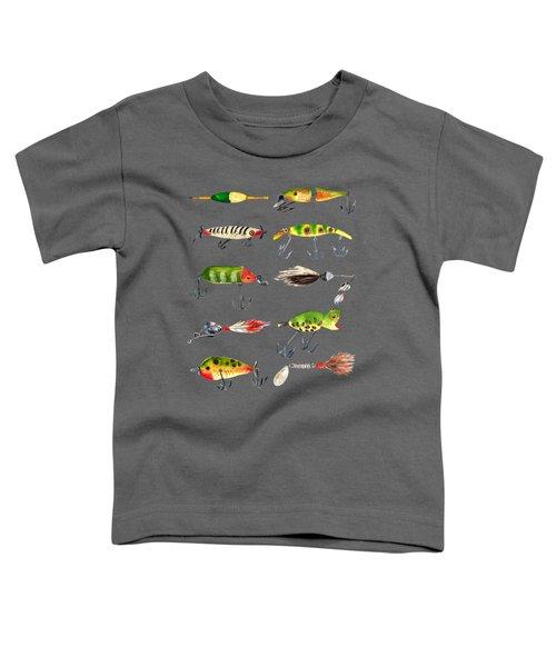 Vintage Fishing Lures Toddler T-Shirt