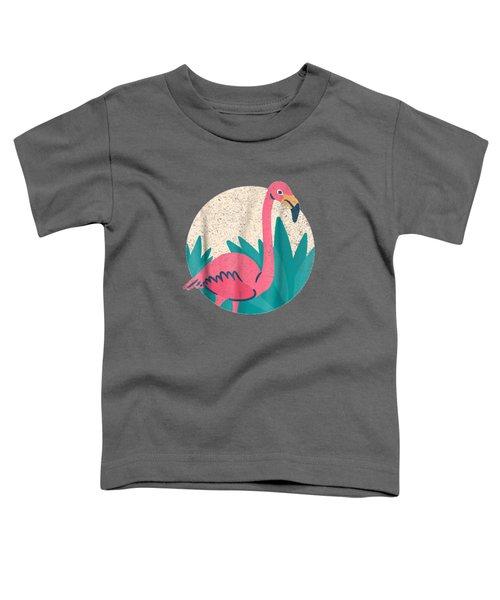 Vintage Flamingo T-shirt - Distressed Vintage Style Animal T Toddler T-Shirt
