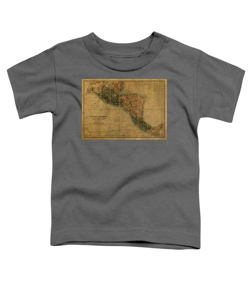 Vintage Map Of Central America 1850 Toddler T-Shirt