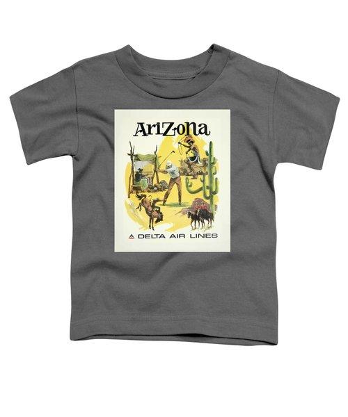 Vintage Travel Poster - Arizona Toddler T-Shirt