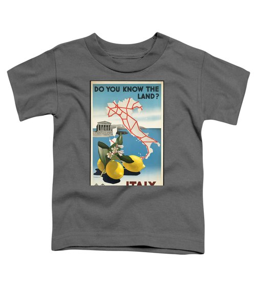 Vintage Travel Poster - Italy Toddler T-Shirt